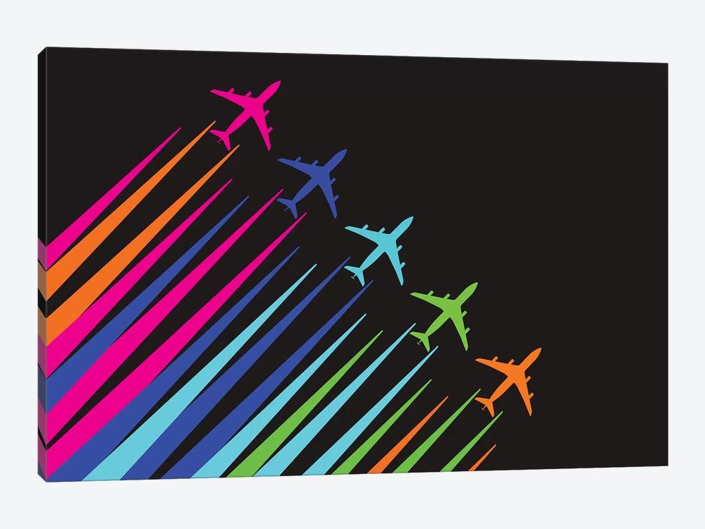 Color Trails by 08 Left 1-piece Canvas Art Print