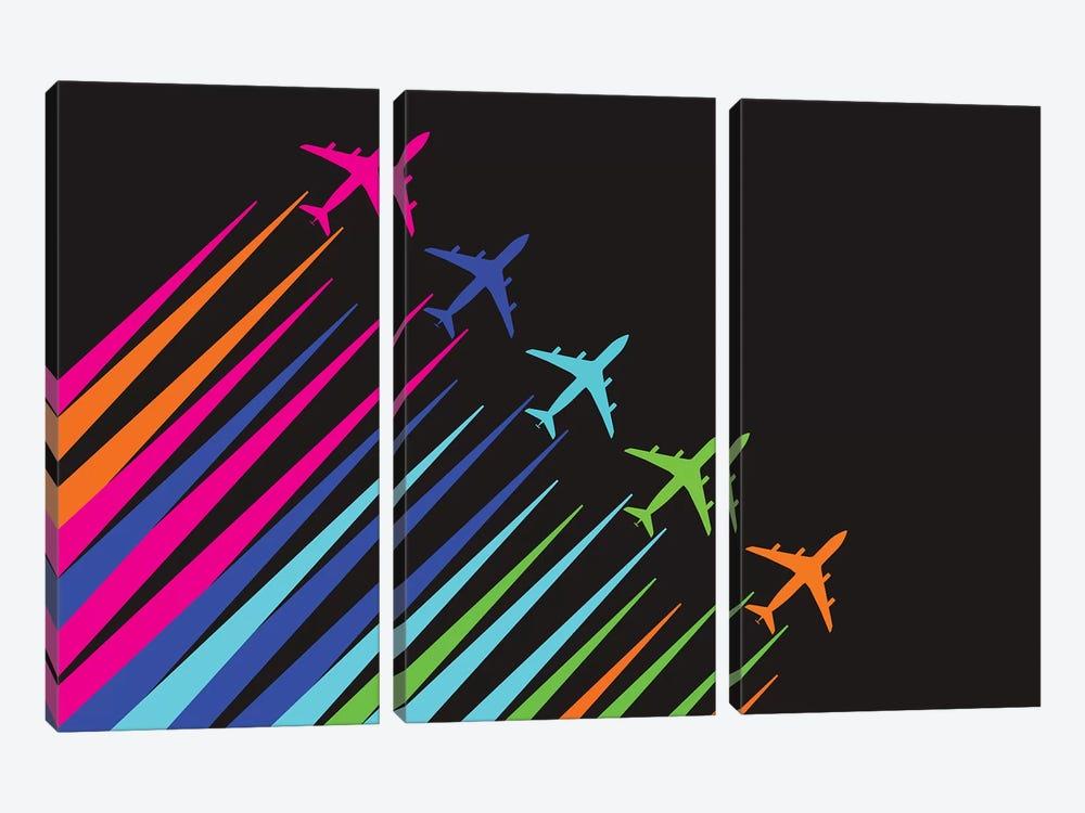 Color Trails by 08 Left 3-piece Canvas Art Print