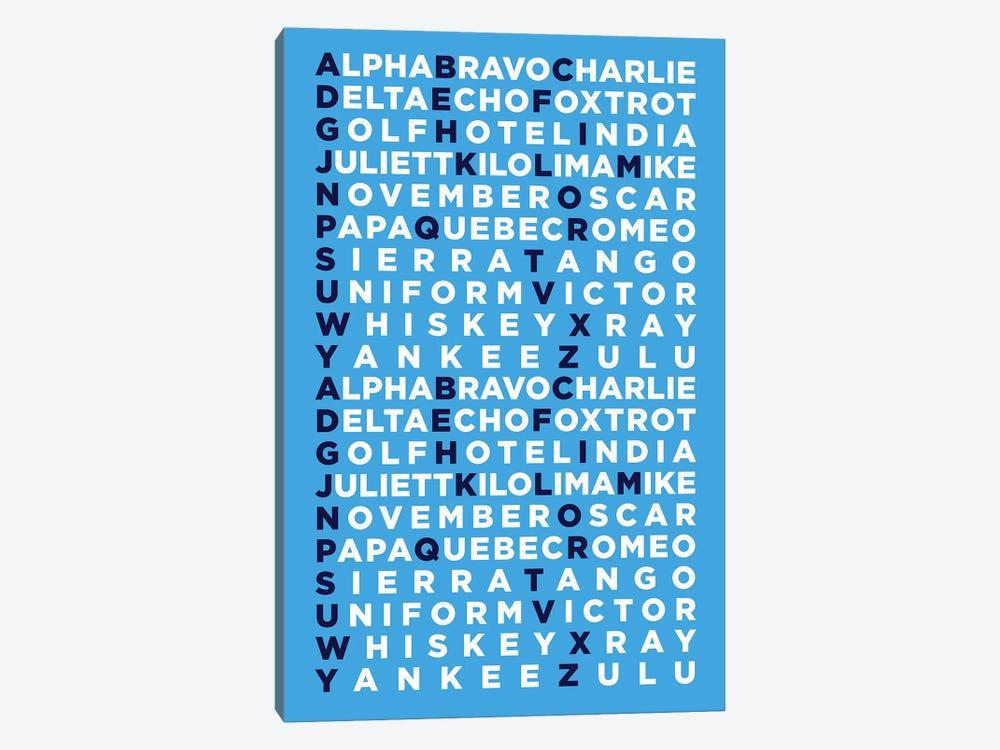 International Radiotelephony Spelling Alphabet I by 08 Left 1-piece Canvas Print