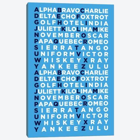 International Radiotelephony Spelling Alphabet I Canvas Print #OET147} by 08 Left Canvas Art