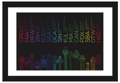 Towerful III Framed Art Print