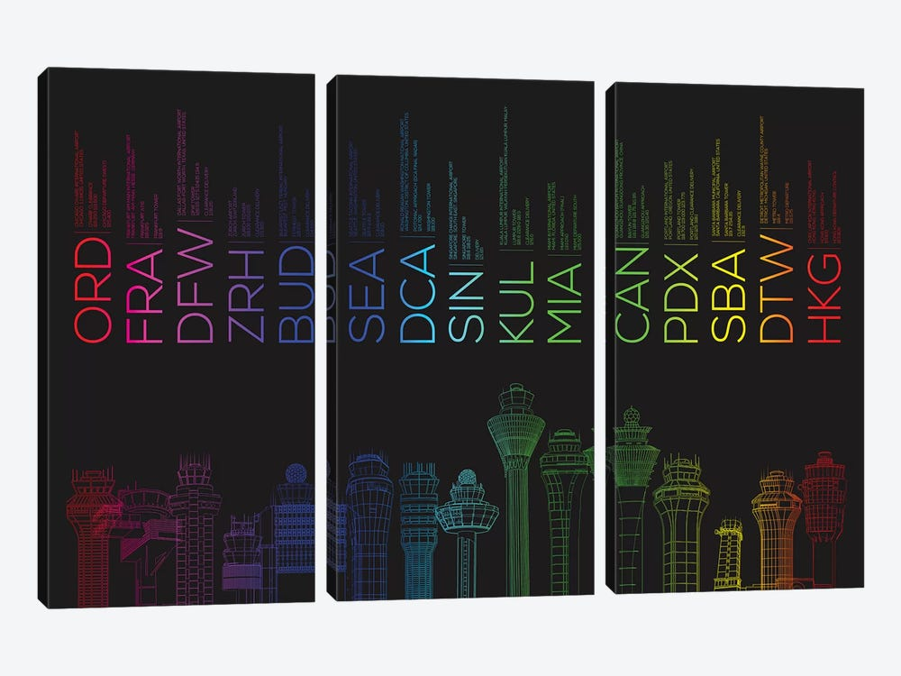 Towerful III by 08 Left 3-piece Canvas Art Print