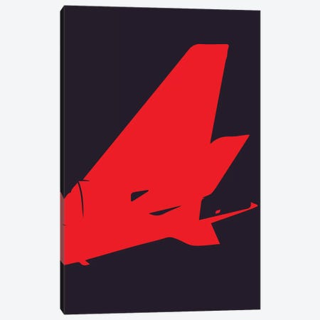 Airplane Tail Canvas Print #OET153} by 08 Left Canvas Artwork
