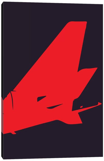 Airplane Tail Canvas Art Print