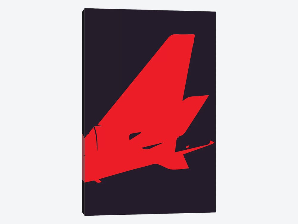 Airplane Tail by 08 Left 1-piece Canvas Artwork