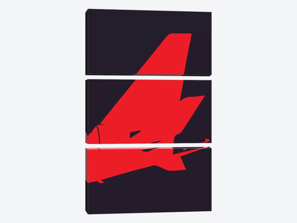 Airplane Tail by 08 Left 3-piece Canvas Art