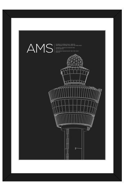 AMS Tower, Schiphol International Airport Framed Art Print