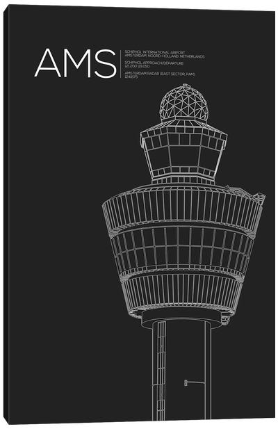 AMS Tower, Schiphol International Airport Canvas Art Print