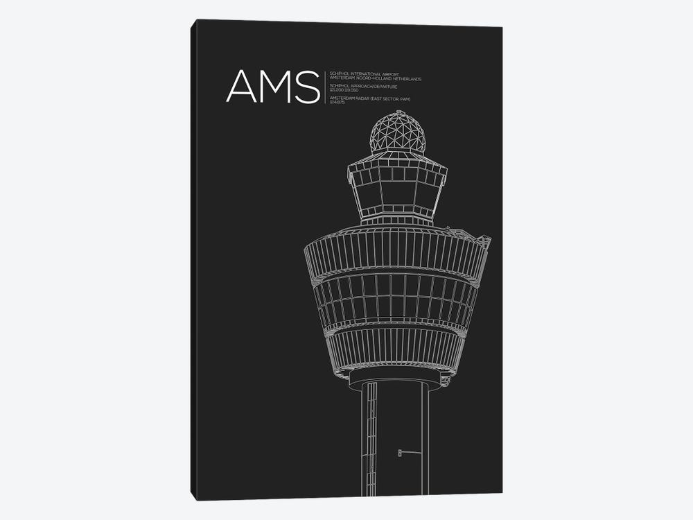 AMS Tower, Schiphol International Airport by 08 Left 1-piece Art Print