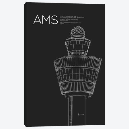 AMS Tower, Schiphol International Airport 3-Piece Canvas #OET154} by 08 Left Canvas Print