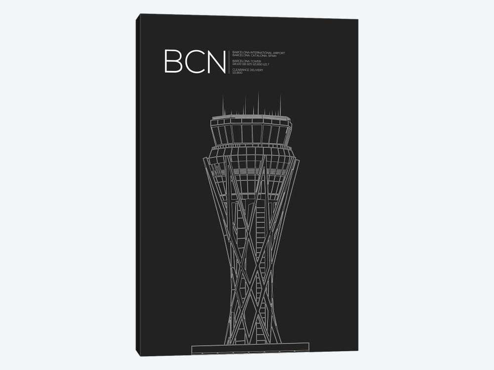 BCN Tower, Barcelona, Spain by 08 Left 1-piece Canvas Print