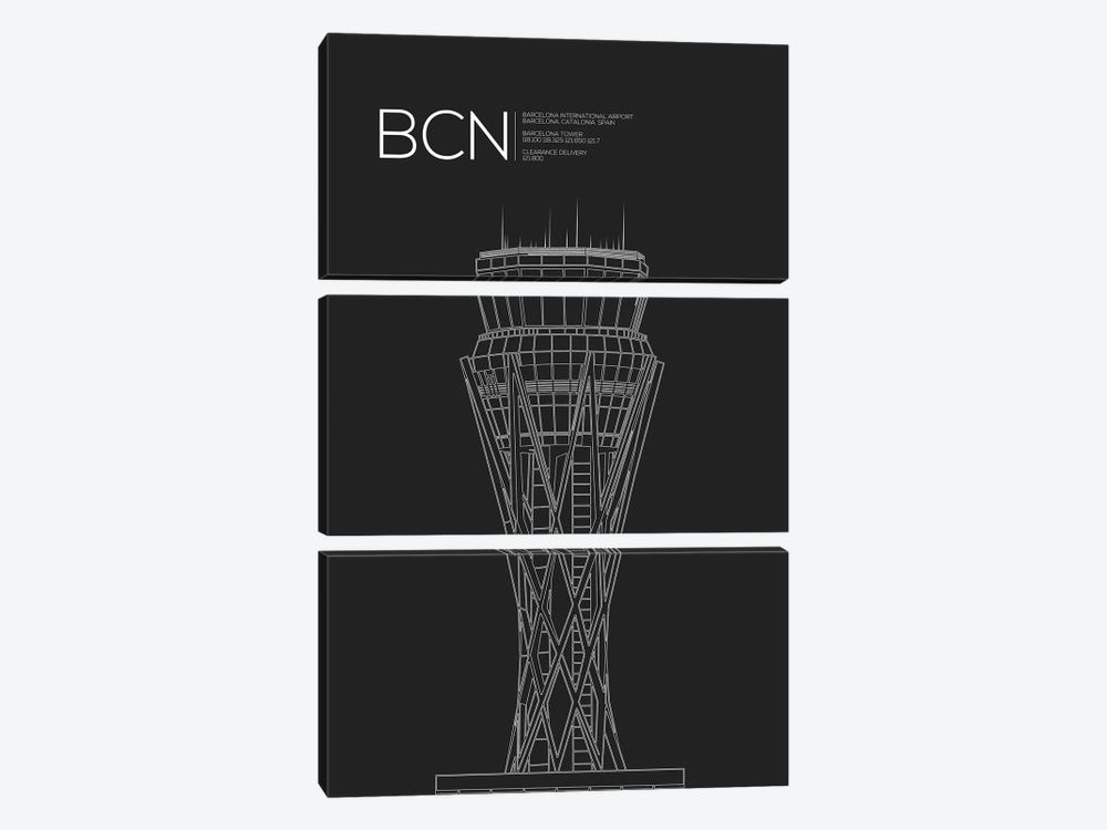 BCN Tower, Barcelona, Spain by 08 Left 3-piece Canvas Art Print