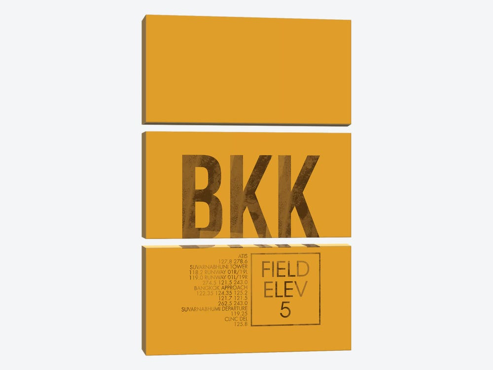 BKK Air Traffic Control, Bangkok by 08 Left 3-piece Canvas Artwork