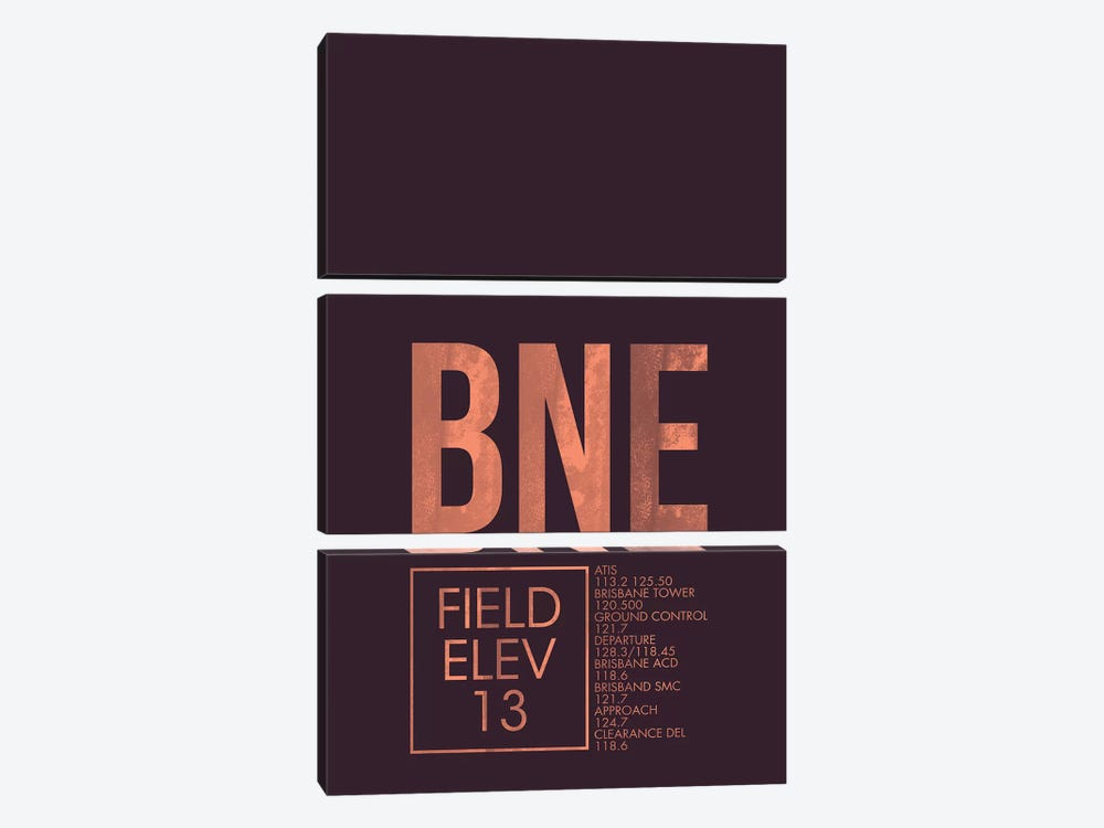 BNE Air Traffic Control, Brisbane by 08 Left 3-piece Canvas Art Print