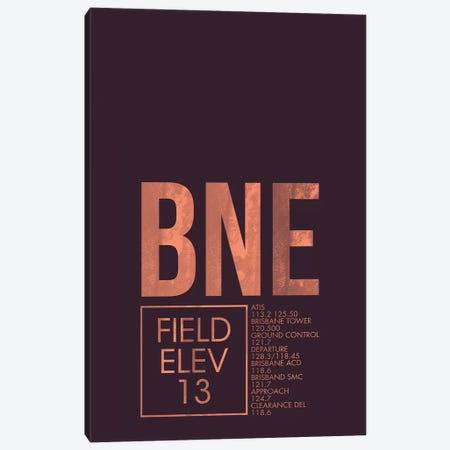 BNE Air Traffic Control, Brisbane Canvas Print #OET158} by 08 Left Canvas Artwork