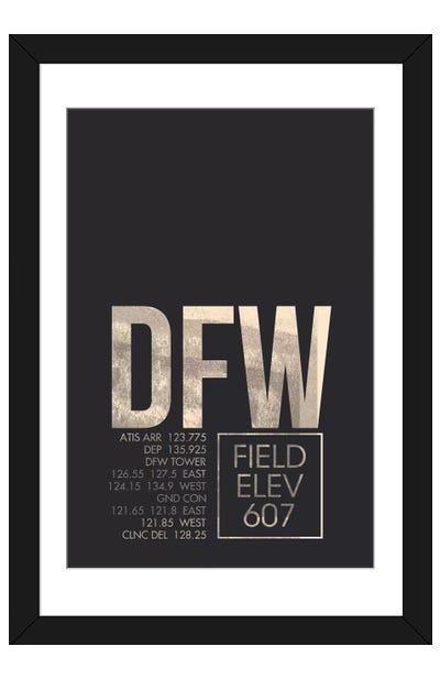 Dallas/Fort Worth Framed Art Print