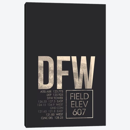 Dallas/Fort Worth Canvas Print #OET15} by 08 Left Canvas Wall Art