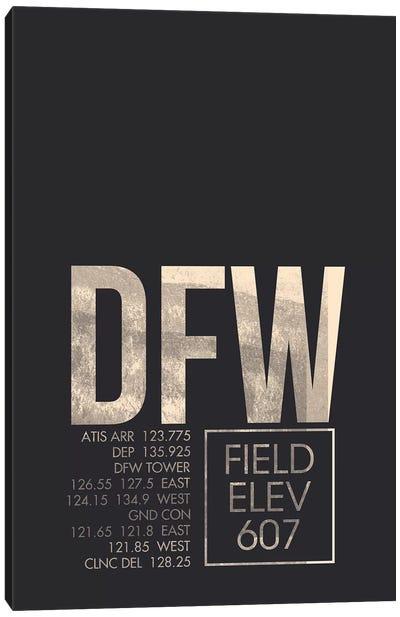 Air Traffic Control Series: Dallas/Fort Worth Canvas Print #OET15