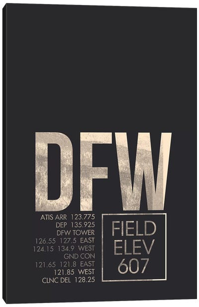 Dallas/Fort Worth Canvas Art Print