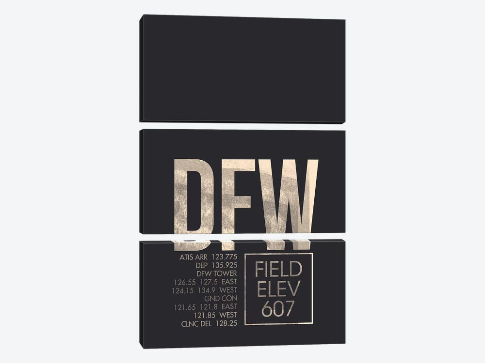 Dallas/Fort Worth by 08 Left 3-piece Canvas Artwork