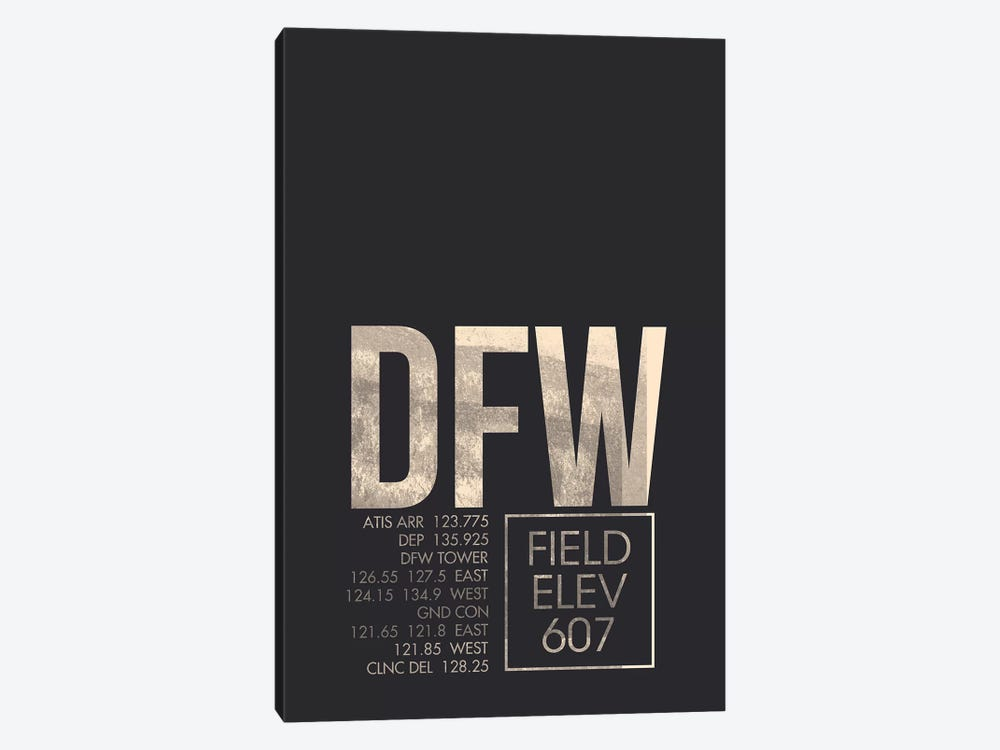 Dallas/Fort Worth by 08 Left 1-piece Canvas Wall Art