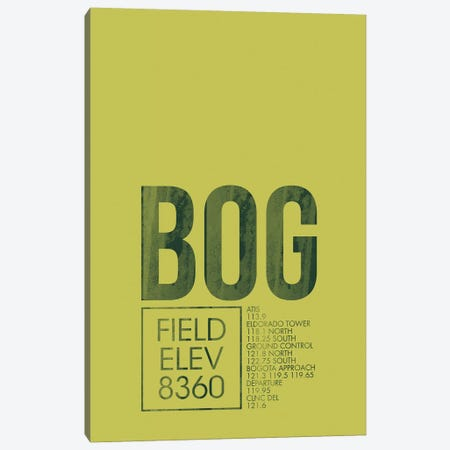 BOG Air Traffic Control, Bogota, Colombia Canvas Print #OET160} by 08 Left Canvas Print
