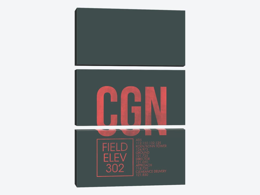 CGN Air Traffic Control, Cologne, Germany by 08 Left 3-piece Art Print