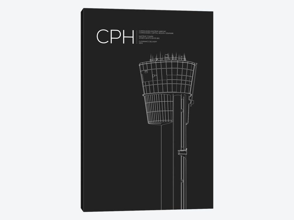 CPH Tower, Copenhagen by 08 Left 1-piece Canvas Wall Art