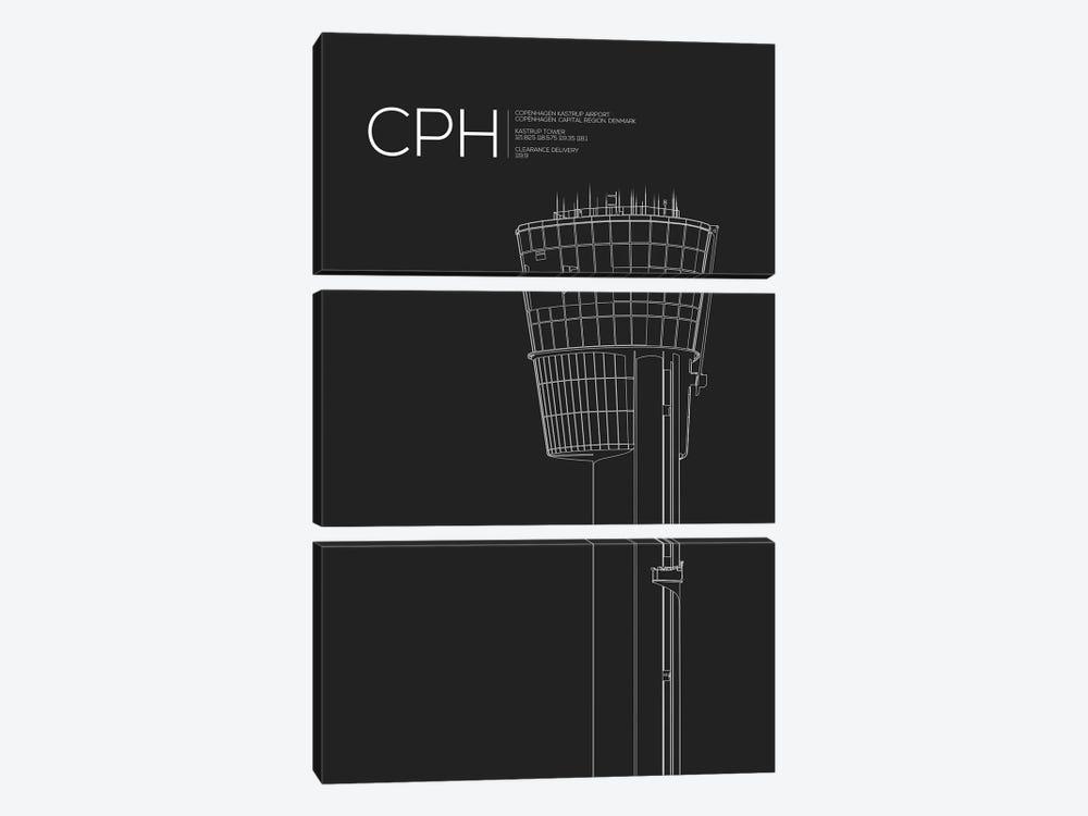 CPH Tower, Copenhagen by 08 Left 3-piece Canvas Wall Art