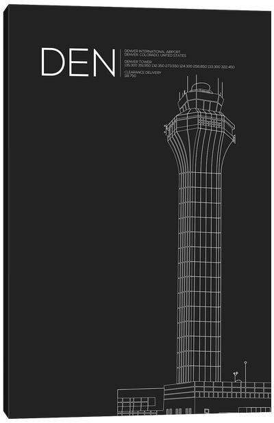 DEN Tower, Denver International Airport Canvas Art Print