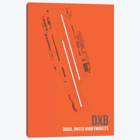 DXB Diagram, Dubai, United Arab Emirates Canvas Print #OET166} by 08 Left Canvas Artwork