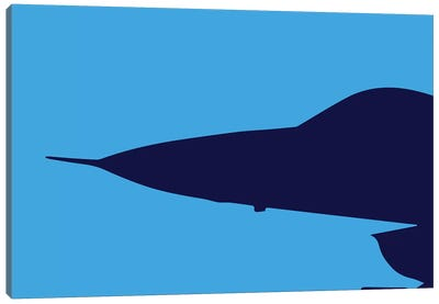 F-16 Nose Canvas Art Print