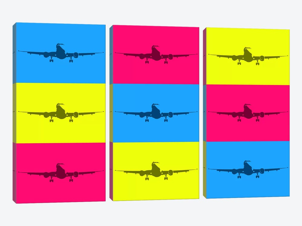 Fly With A Color by 08 Left 3-piece Canvas Print