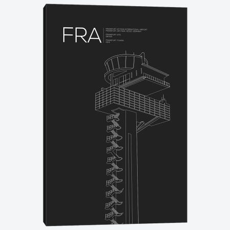 FRA Tower, Frankfurt International Airport Canvas Print #OET171} by 08 Left Canvas Wall Art