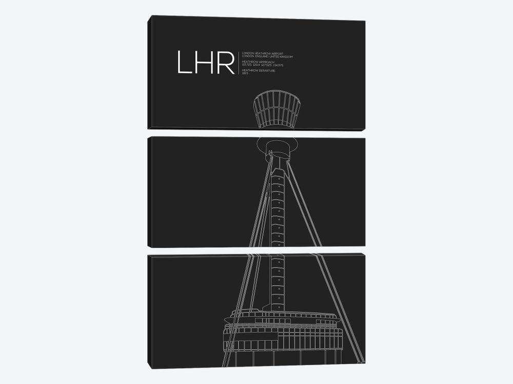LHR Tower, Heathrow Airport by 08 Left 3-piece Art Print