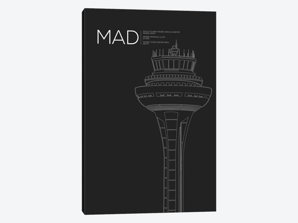 MAD Tower, Madrid, Spain by 08 Left 1-piece Canvas Wall Art
