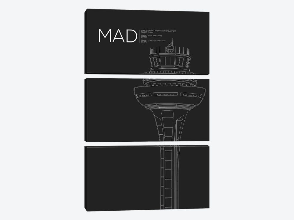 MAD Tower, Madrid, Spain by 08 Left 3-piece Canvas Wall Art