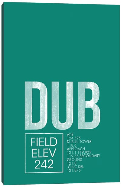 Air Traffic Control Series: Dublin Canvas Print #OET17