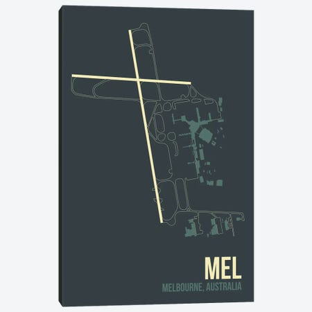 MEL Diagram, Melbourne, Australia Canvas Print #OET180} by 08 Left Art Print