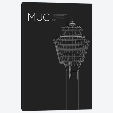 MUC Tower, Munich International Airport Canvas Print #OET181} by 08 Left Art Print