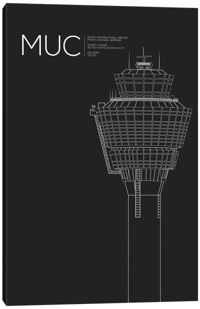 MUC Tower, Munich International Airport Canvas Art Print