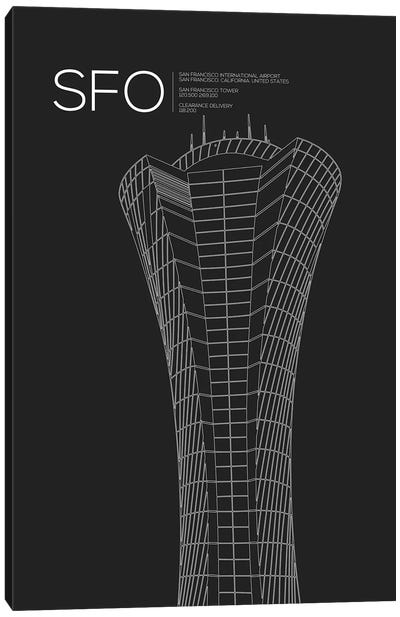 SFO Tower, San Francisco International Airport Canvas Art Print