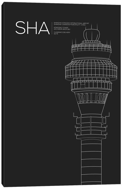SHA Tower, Shanghai International Airport Canvas Art Print