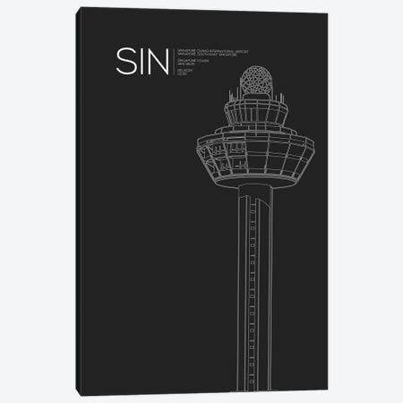 SIN Tower, Singapore International Airport Canvas Print #OET187} by 08 Left Canvas Art