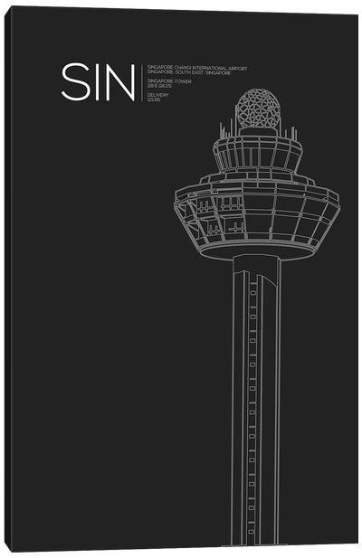 SIN Tower, Singapore International Airport Canvas Art Print