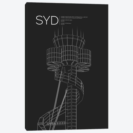 SYD Tower, Sydney International Airport 3-Piece Canvas #OET188} by 08 Left Art Print
