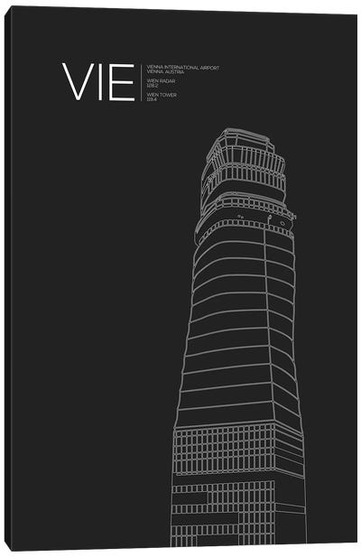 VIE Tower, Vienna International Airport Canvas Art Print
