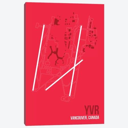 YVR Diagram, Vancouver Canvas Print #OET194} by 08 Left Art Print