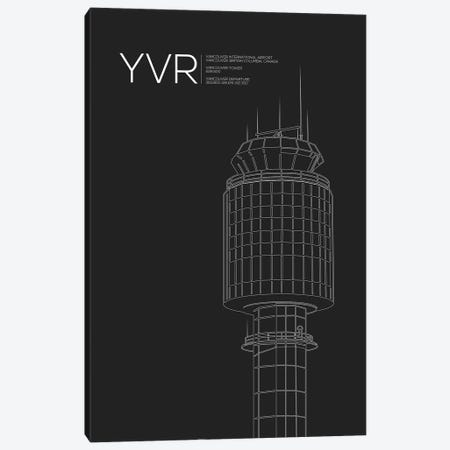 YVR Tower, Vancouver International Airport Canvas Print #OET195} by 08 Left Art Print