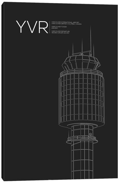YVR Tower, Vancouver International Airport Canvas Art Print
